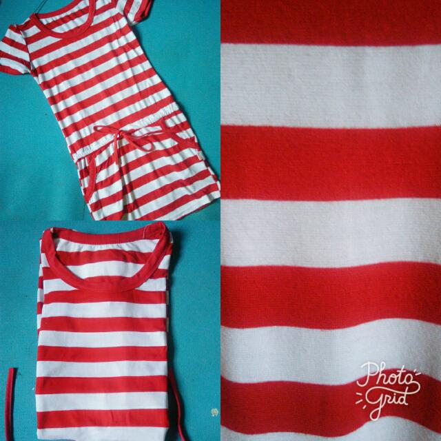 Stripe Red Dress