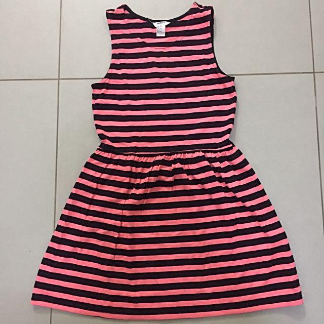 Striped F21 Skater Dress