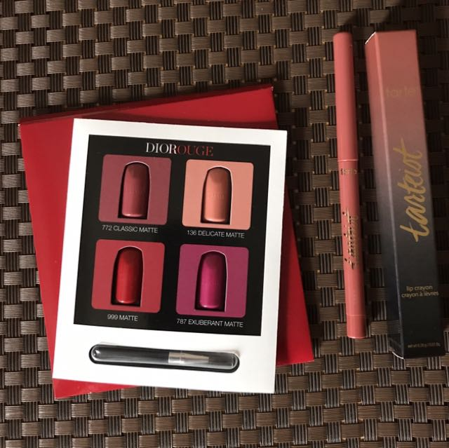 Tarte Lip Crayon in Lategram with Dior Sampler