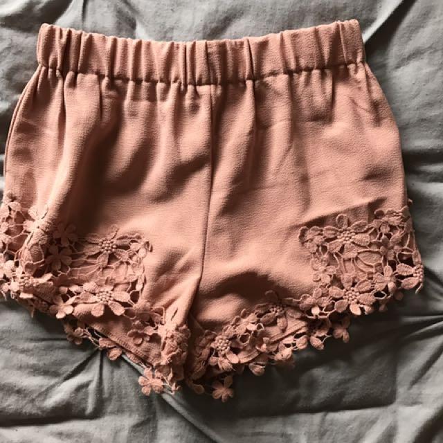 Temt Shorts Pastel Pink