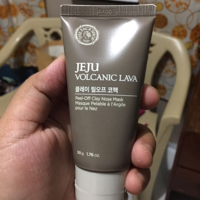THE FACE SHOP JEJU VOLCANIC PEEL OFF CLAY NOSE PACK