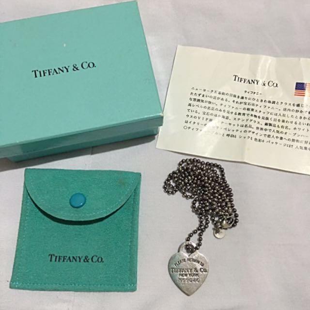 Tiffany Dog Tag Heart Necklace