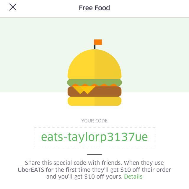 UBER EATS $10 OFF!!