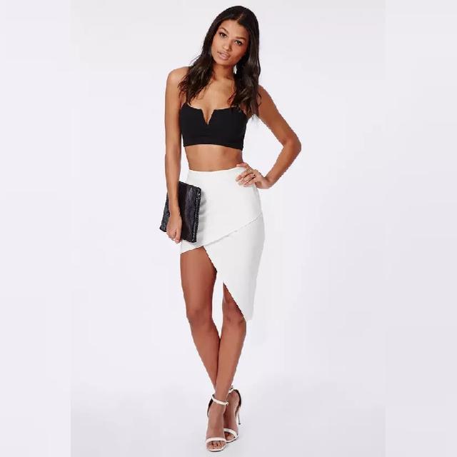 White ❤ Asymmetric Skirt