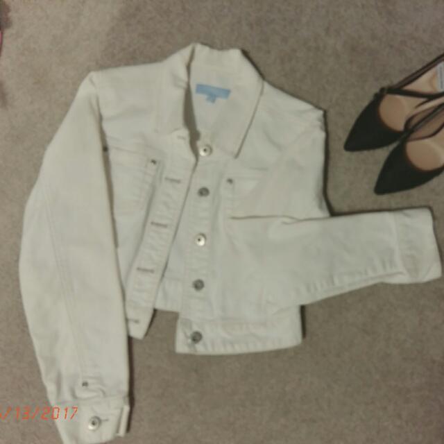 White Jean Jacket (S Fit)