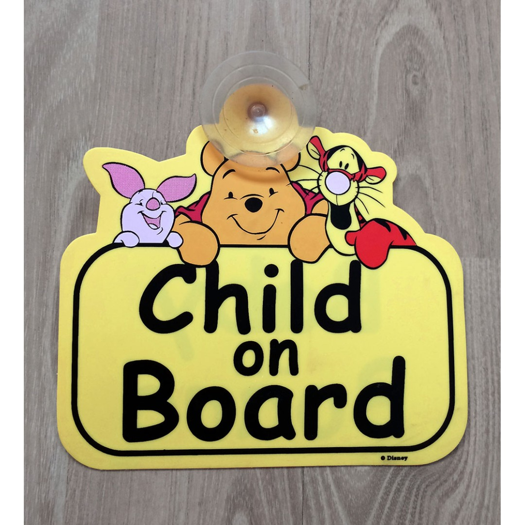 Winnie The Pooh Personalised Baby On Board Car Sign 5