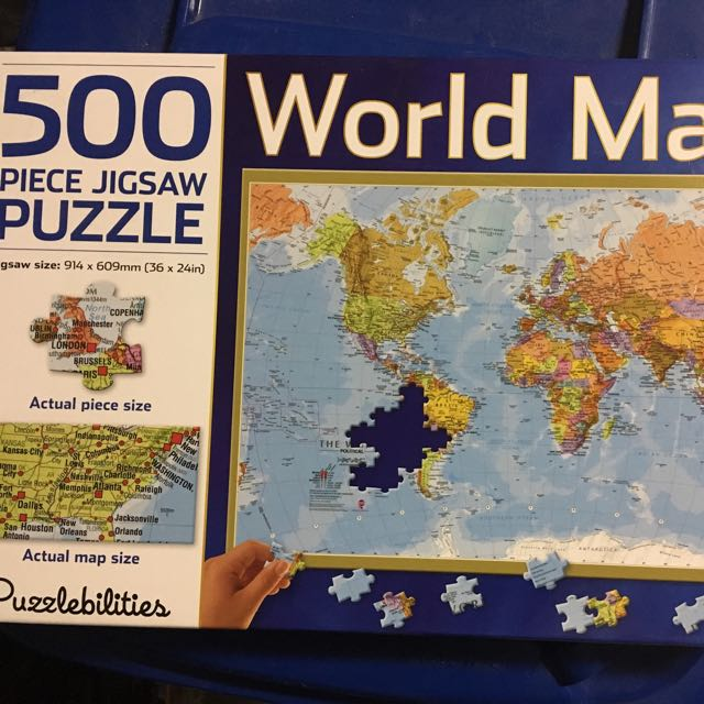 World Map Puzzle 500 Pieces