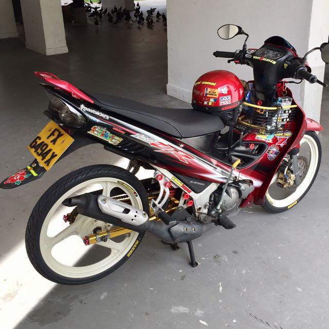 Yamaha 125z Maroon Coverset Motorbikes Motorbike Accessories On