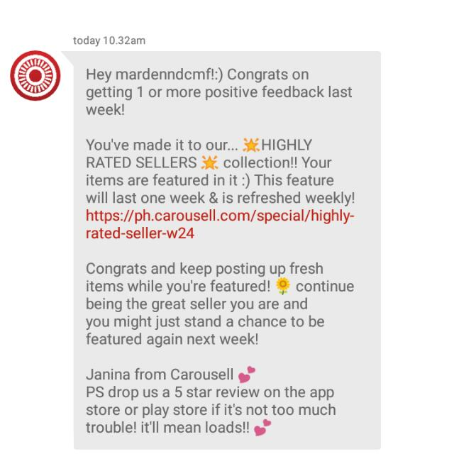 Thank You, Carousell!🤗