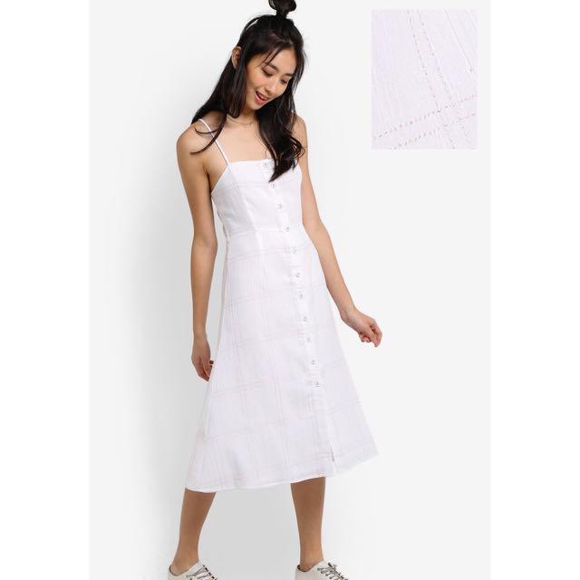 cd6ccca2ac4c ZALORA Checkered Cami Midi Dress Something Borrowed