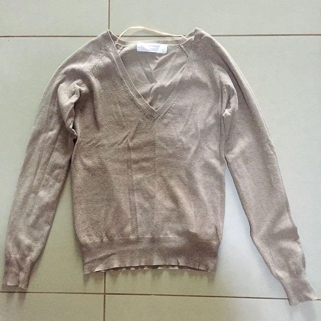 Zara Knitted Long-sleeved Blouse
