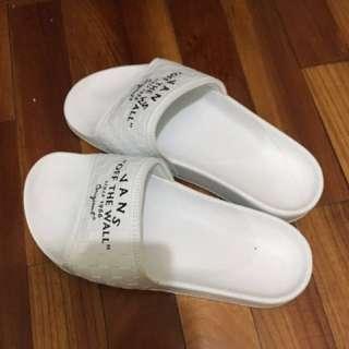 全新 白vans拖鞋  女款經典款