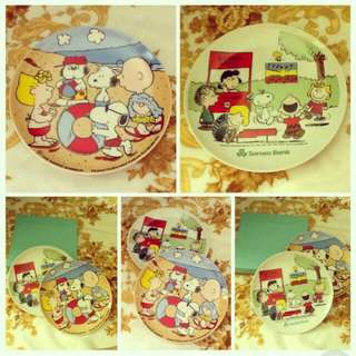 SNOOPY Plates (Collectible Item)