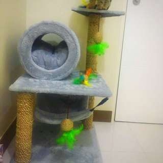 3-story Carpeted Cat Condo REPRICED