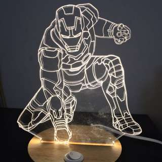 3D Iron Man公仔燈