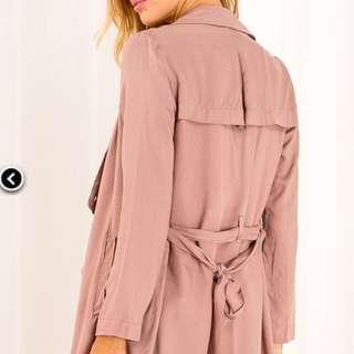 Beige Trench Coat Size 8