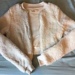 Hollister Faux Fur Sweater Size Small