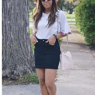 Forever 21 Black Denim Skirt (medium)