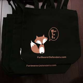 The Fur-Bearers Tote Bags! Support Animal Rights!