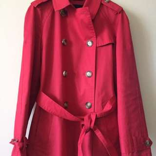 Red Coach Trench Coat