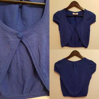 PRELOVED CLASSIC ROYAL BLUE BOLERO