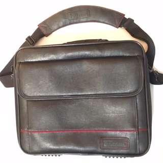 Black Leather Computer Case/Briefcase
