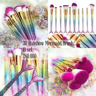 Rainbow Mermaid Brush