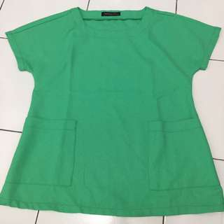 Simplicity Green Blouse/ Baju / Kemeja / Celana / Sepatu #ClearanceSale