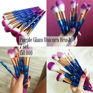 Purple Glam Unicorn Brush