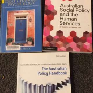 10 x Psychology, Counselling, Community Textbooks