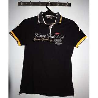 Ladies T shirt merk Kappa warna biru tua ukuran L