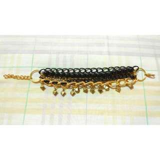 Black Gold Chain Bracelet