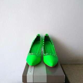 Reprice Sale High Heels Hijau Stabilo XSML Size 40
