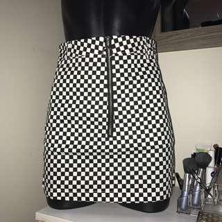 checkboard skirt
