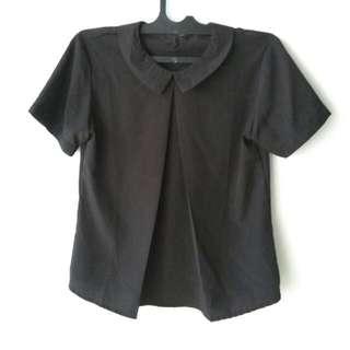 Sale Atasan (Shirt) Big Size Hitam Formal Size L