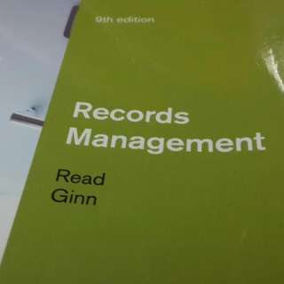 Record Management 9th Edition
