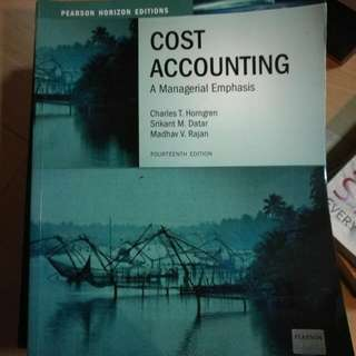 Cost Accounting 14th Ed