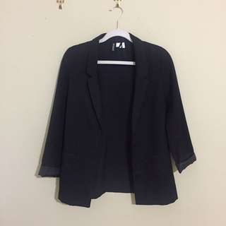 Black Oversized H&M Blazer
