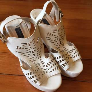 White Forever New Heels Size 39