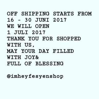 Fyi Closed Shipping
