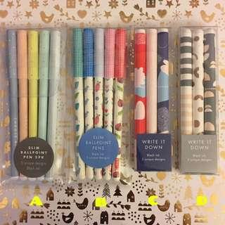 Kikki K Pen Set Ball Gel Pens $7 Each