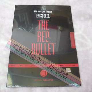 [READY STOCK][ULTRA RARE & LIMITED] BTS KOREA 2014 LIVE TRILOGY EPISOD 2 <THE RED BULLET> OFFICIAL GOODS - FILE SET(8PC)(SEALED)