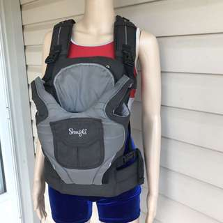 Snugli Baby Carrier 7-26 lbs Evenflo Grey/Black