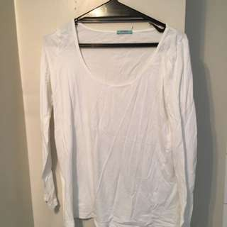 Kookai White Long Sleeved Top