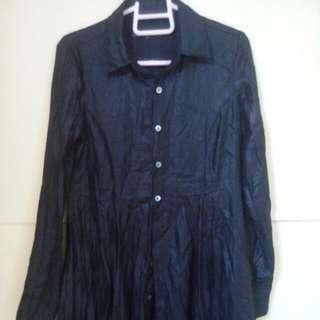 Electric Black Polo Dress