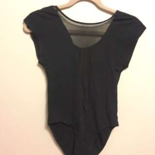 American Apparel V Neck Body Suit