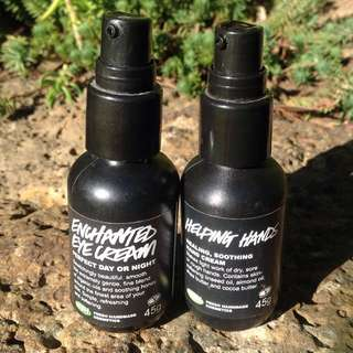 2 Lush Moisturizers Hand And Eye Creams