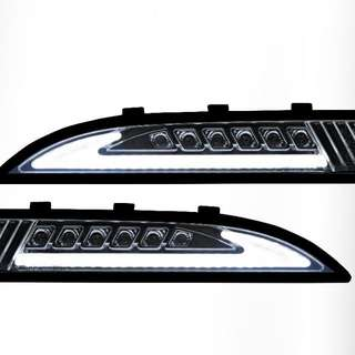 2x White LED Daytime Day Fog Lights DRL signal smoke for VW scirocco 2008~2014