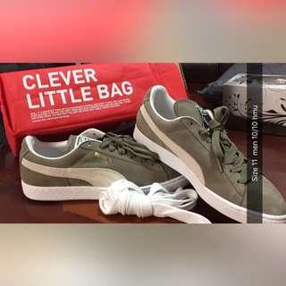 Green/Grey Puma suedes