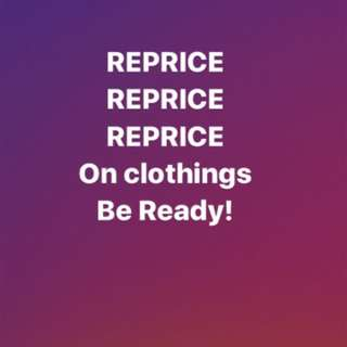 All Clothings REPRICE!!!